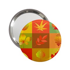 Autumn Leaves Colorful Fall Foliage 2 25  Handbag Mirrors