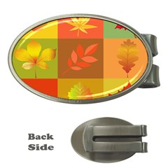 Autumn Leaves Colorful Fall Foliage Money Clips (oval)