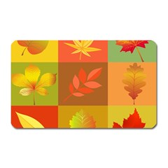 Autumn Leaves Colorful Fall Foliage Magnet (rectangular)