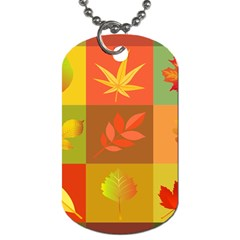 Autumn Leaves Colorful Fall Foliage Dog Tag (one Side)