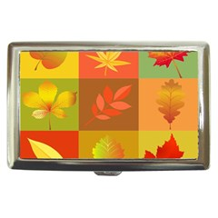 Autumn Leaves Colorful Fall Foliage Cigarette Money Cases