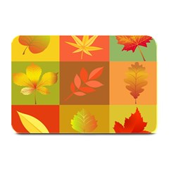 Autumn Leaves Colorful Fall Foliage Plate Mats by Nexatart