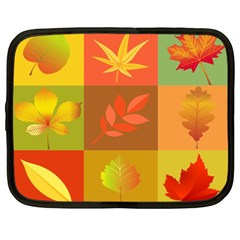 Autumn Leaves Colorful Fall Foliage Netbook Case (xxl)  by Nexatart