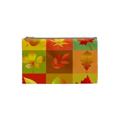 Autumn Leaves Colorful Fall Foliage Cosmetic Bag (small)  by Nexatart