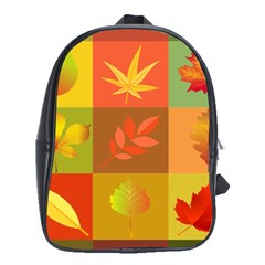 Autumn Leaves Colorful Fall Foliage School Bags(large)  by Nexatart