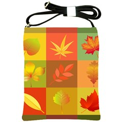 Autumn Leaves Colorful Fall Foliage Shoulder Sling Bags by Nexatart