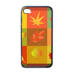 Autumn Leaves Colorful Fall Foliage Apple Iphone 4 Case (black) by Nexatart