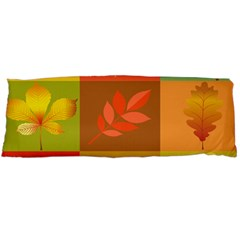 Autumn Leaves Colorful Fall Foliage Body Pillow Case Dakimakura (two Sides) by Nexatart
