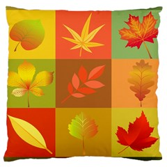 Autumn Leaves Colorful Fall Foliage Large Cushion Case (one Side)
