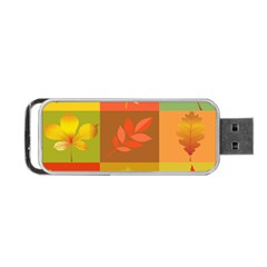 Autumn Leaves Colorful Fall Foliage Portable Usb Flash (one Side) by Nexatart