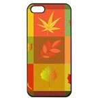 Autumn Leaves Colorful Fall Foliage Apple iPhone 5 Seamless Case (Black) Front