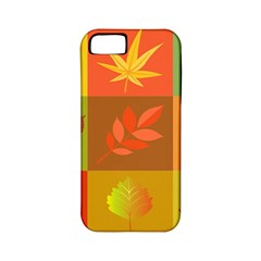 Autumn Leaves Colorful Fall Foliage Apple Iphone 5 Classic Hardshell Case (pc+silicone) by Nexatart