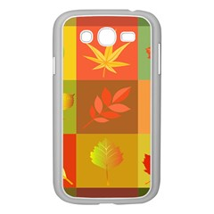 Autumn Leaves Colorful Fall Foliage Samsung Galaxy Grand Duos I9082 Case (white) by Nexatart