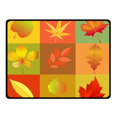 Autumn Leaves Colorful Fall Foliage Double Sided Fleece Blanket (small)