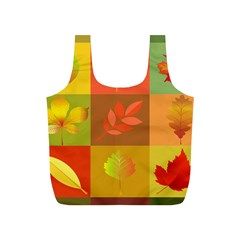 Autumn Leaves Colorful Fall Foliage Full Print Recycle Bags (s)  by Nexatart