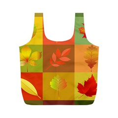 Autumn Leaves Colorful Fall Foliage Full Print Recycle Bags (m)  by Nexatart