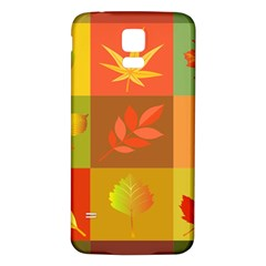 Autumn Leaves Colorful Fall Foliage Samsung Galaxy S5 Back Case (white) by Nexatart