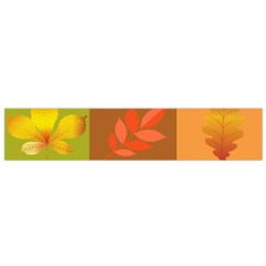 Autumn Leaves Colorful Fall Foliage Flano Scarf (small) by Nexatart