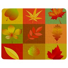 Autumn Leaves Colorful Fall Foliage Jigsaw Puzzle Photo Stand (rectangular) by Nexatart