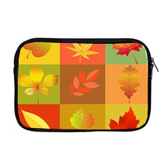 Autumn Leaves Colorful Fall Foliage Apple Macbook Pro 17  Zipper Case by Nexatart