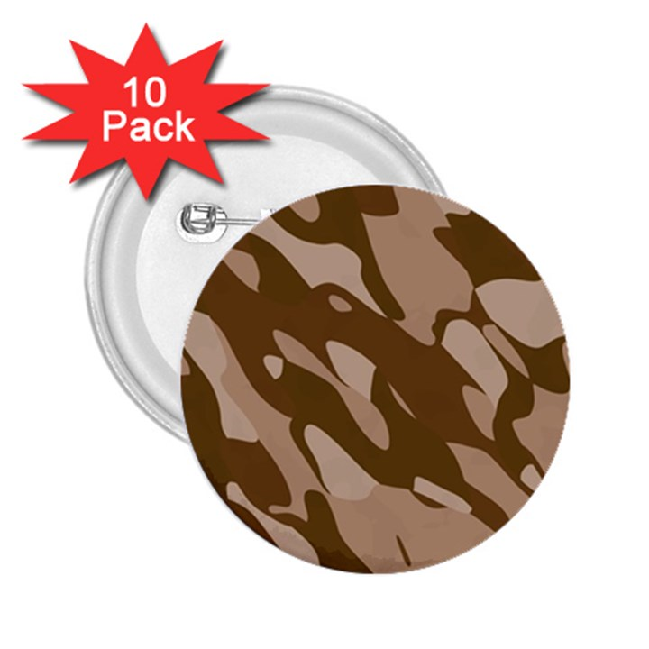 Background For Scrapbooking Or Other Beige And Brown Camouflage Patterns 2.25  Buttons (10 pack)