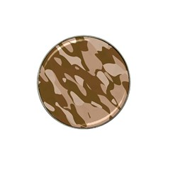 Background For Scrapbooking Or Other Beige And Brown Camouflage Patterns Hat Clip Ball Marker (4 Pack) by Nexatart