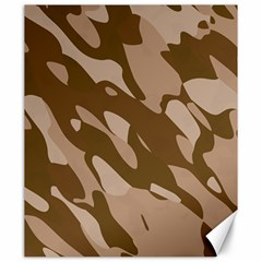 Background For Scrapbooking Or Other Beige And Brown Camouflage Patterns Canvas 20  X 24   by Nexatart