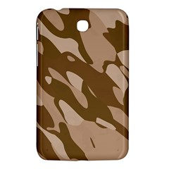 Background For Scrapbooking Or Other Beige And Brown Camouflage Patterns Samsung Galaxy Tab 3 (7 ) P3200 Hardshell Case  by Nexatart