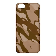 Background For Scrapbooking Or Other Beige And Brown Camouflage Patterns Apple Iphone 5c Hardshell Case by Nexatart