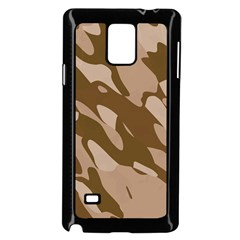 Background For Scrapbooking Or Other Beige And Brown Camouflage Patterns Samsung Galaxy Note 4 Case (black) by Nexatart