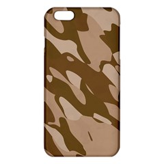 Background For Scrapbooking Or Other Beige And Brown Camouflage Patterns Iphone 6 Plus/6s Plus Tpu Case