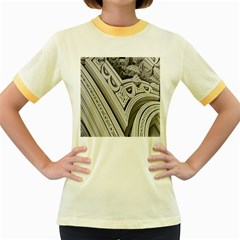 Arches Fractal Chaos Church Arch Women s Fitted Ringer T Shirts