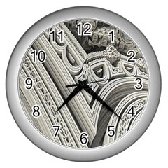 Arches Fractal Chaos Church Arch Wall Clocks (silver)  by Nexatart