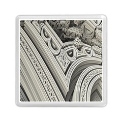 Arches Fractal Chaos Church Arch Memory Card Reader (square)  by Nexatart