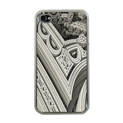 Arches Fractal Chaos Church Arch Apple Iphone 4 Case (clear)
