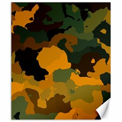 Background For Scrapbooking Or Other Camouflage Patterns Orange And Green Canvas 20  X 24   by Nexatart