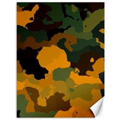 Background For Scrapbooking Or Other Camouflage Patterns Orange And Green Canvas 36  X 48   by Nexatart