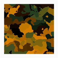 Background For Scrapbooking Or Other Camouflage Patterns Orange And Green Medium Glasses Cloth by Nexatart