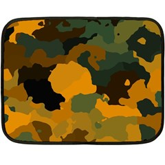 Background For Scrapbooking Or Other Camouflage Patterns Orange And Green Double Sided Fleece Blanket (mini)  by Nexatart