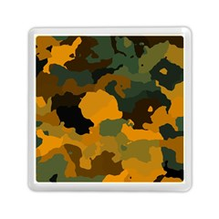 Background For Scrapbooking Or Other Camouflage Patterns Orange And Green Memory Card Reader (square)