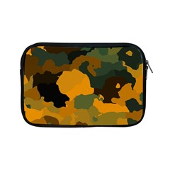Background For Scrapbooking Or Other Camouflage Patterns Orange And Green Apple Ipad Mini Zipper Cases by Nexatart