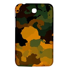 Background For Scrapbooking Or Other Camouflage Patterns Orange And Green Samsung Galaxy Tab 3 (7 ) P3200 Hardshell Case  by Nexatart
