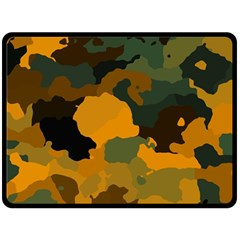 Background For Scrapbooking Or Other Camouflage Patterns Orange And Green Double Sided Fleece Blanket (large)  by Nexatart