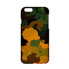 Background For Scrapbooking Or Other Camouflage Patterns Orange And Green Apple Iphone 6/6s Hardshell Case