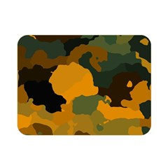 Background For Scrapbooking Or Other Camouflage Patterns Orange And Green Double Sided Flano Blanket (mini)