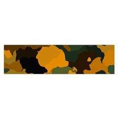 Background For Scrapbooking Or Other Camouflage Patterns Orange And Green Satin Scarf (oblong) by Nexatart