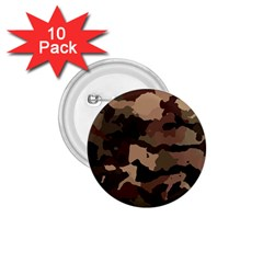 Background For Scrapbooking Or Other Camouflage Patterns Beige And Brown 1 75  Buttons (10 Pack)