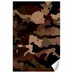 Background For Scrapbooking Or Other Camouflage Patterns Beige And Brown Canvas 24  X 36  by Nexatart