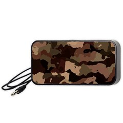 Background For Scrapbooking Or Other Camouflage Patterns Beige And Brown Portable Speaker (black)
