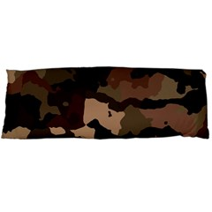 Background For Scrapbooking Or Other Camouflage Patterns Beige And Brown Body Pillow Case Dakimakura (two Sides) by Nexatart